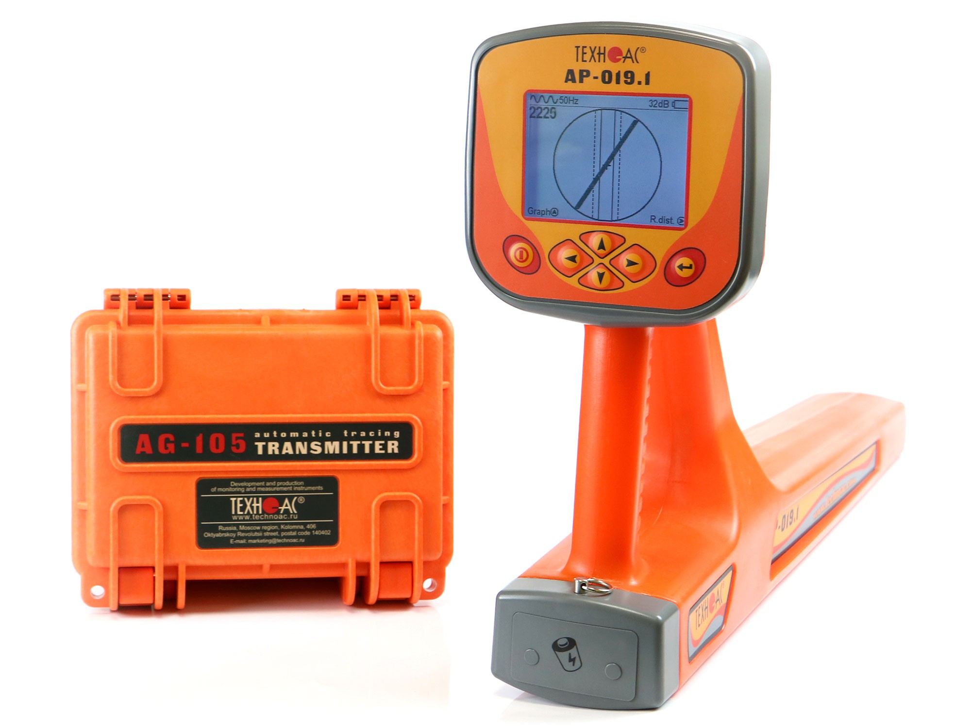 Cable location and depth measurement with AG-309.15N