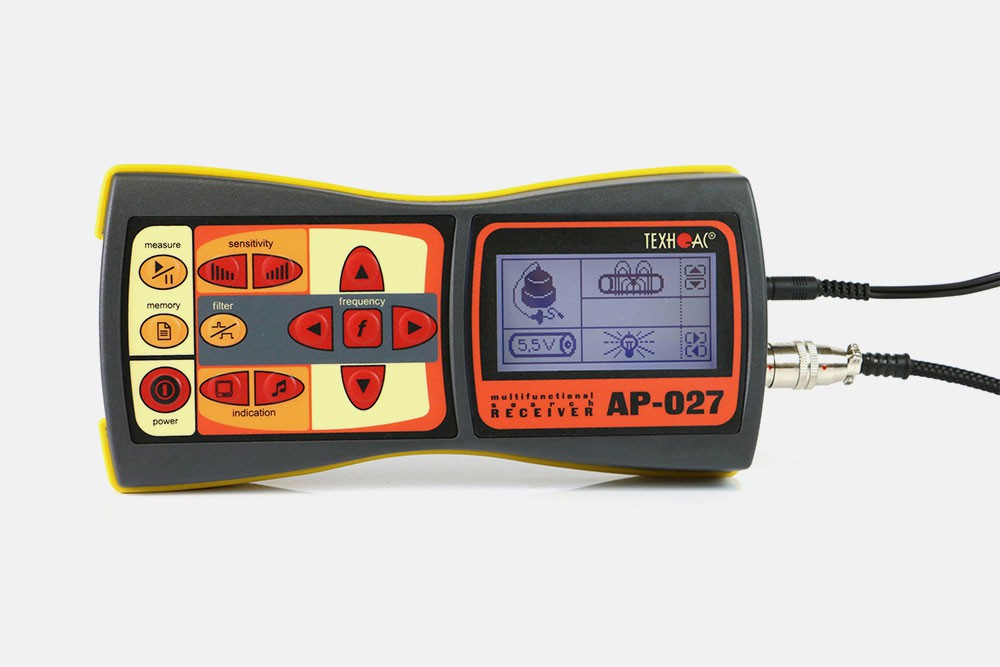 Water leak detectors and cable locators with AP-027 receiver by TECHNO-AC!
